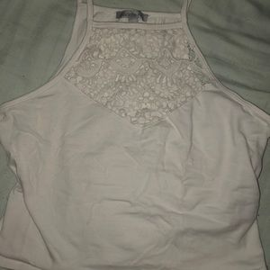 Charlotte Russe White Lace Crop Top